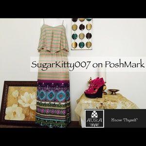 Dresses & Skirts - ELLIE Ruffle Swag Flounce Maxi Dress